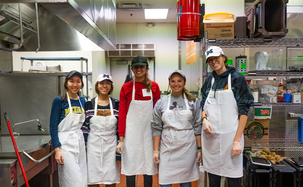 Volunteers at Food Gatherers Kitchen